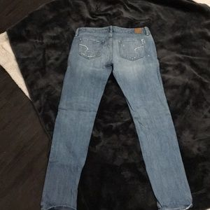 Lightly distressed American Eagle skinny jeans